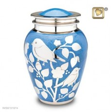 Siver Birds Large Urn