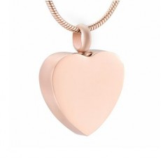 Rose Gold Coloured Heart