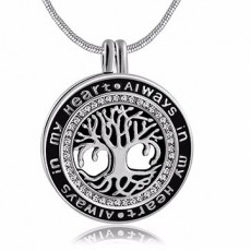 Tree of Life Black & Silver Pendant