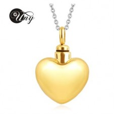 Large Gold Coloured Heart Pendant